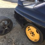 日産 スカイライン GT-R(BNR32)がパンクしたため 工具を積んで出張タイヤ交換に行きました