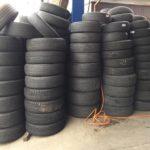 廃タイヤも積もれば1年間で数十万円 ~ 回収された廃タイヤは主にセメントの材料などに再利用されます