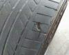 パンクしたタイヤの中からゴロンと音がして、中を見てみると・・・